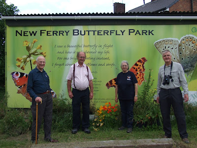 Cheshire Wildlife Trust's chairman Bill Stothart (right) visiting the Butterfly Park