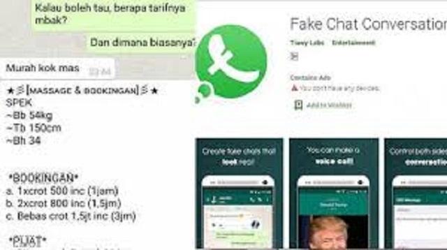 cara membuat fake chat whatsapp