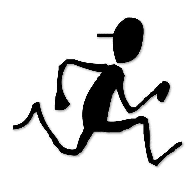 Silhoutte, Free Clipart, Silhouette of A Man Running