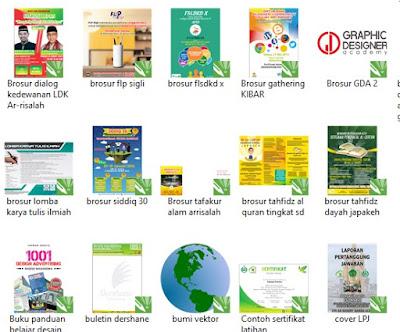 100 Contoh Desain Brosur Keren Format CDR