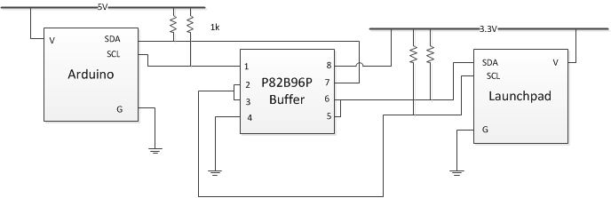 Launchpad MSP430 to Arduino I2C Interface with 3 Channel PWM