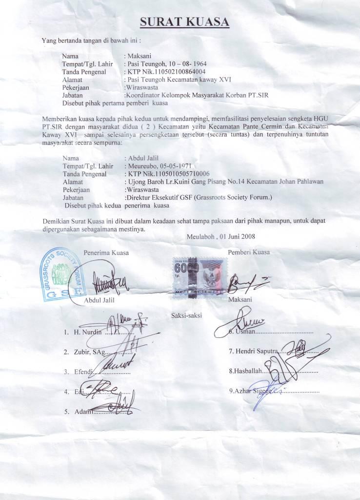 Farza Lawfirm Tentang Surat Kuasa