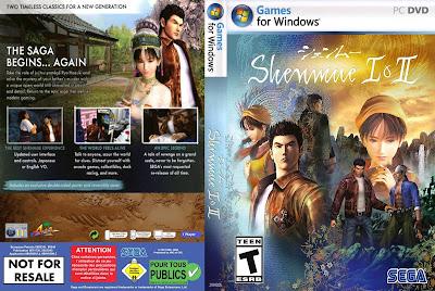 Jogo Shenmue 1 e 2 PC DVD Capa