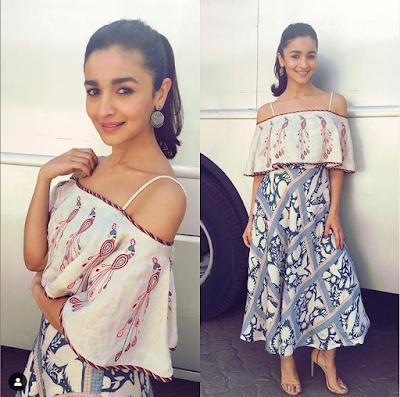 Alia Bhatt Skirt And Off Shoulder Top