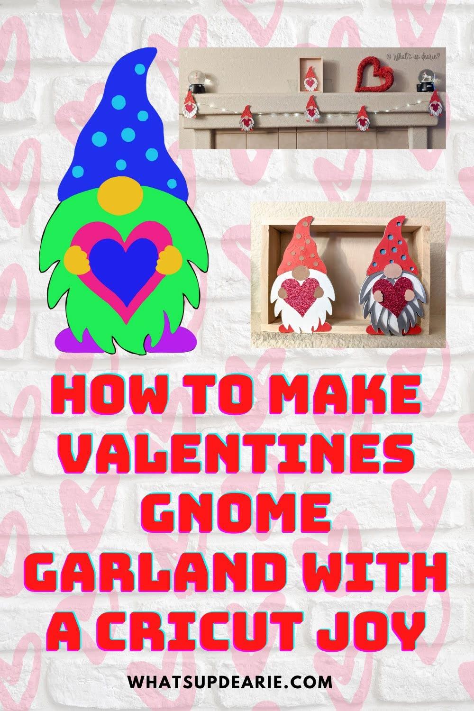 Valentines gnome garland
