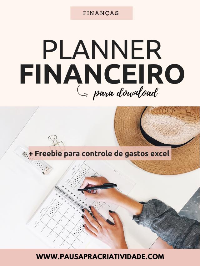 Planner financeiro completo para controle de gastos: Download