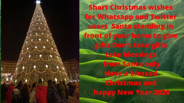 merry christmas wishes for Whatsapp and Twitter users