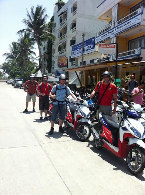 Alquilando unas motocicletas