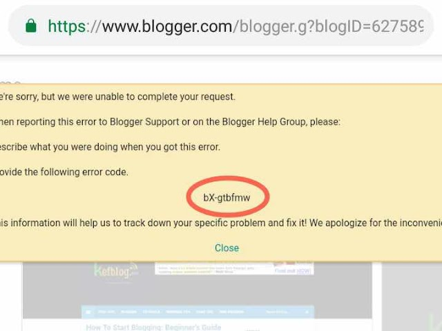 The bX Error in Blogger: How I Managed To Fix It