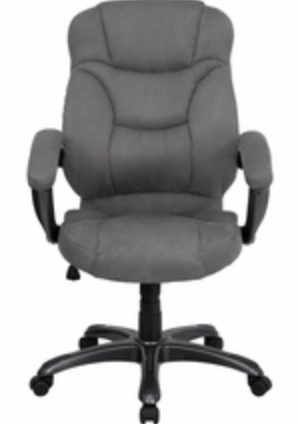 Gray Microfiber Desk Chair by Flash Furniture