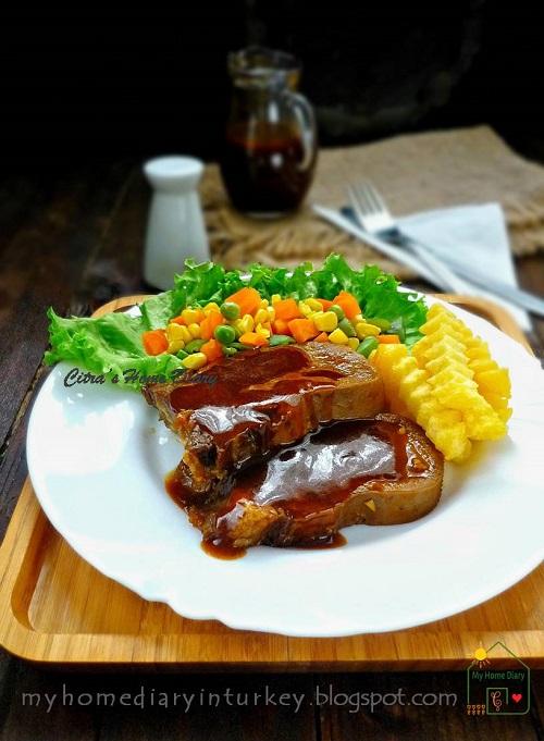 Bistik Lidah Sapi / Indonesian style Braised Beef tongue   Çitra's Home Diary. #steaklidah #bistiklidah #howtocookoffal #beeftongue #resepmasakanindonesia #steak #dinneridea #cookingwithoffal #jerohan #meat #beeftonguerecipe #oxtongue