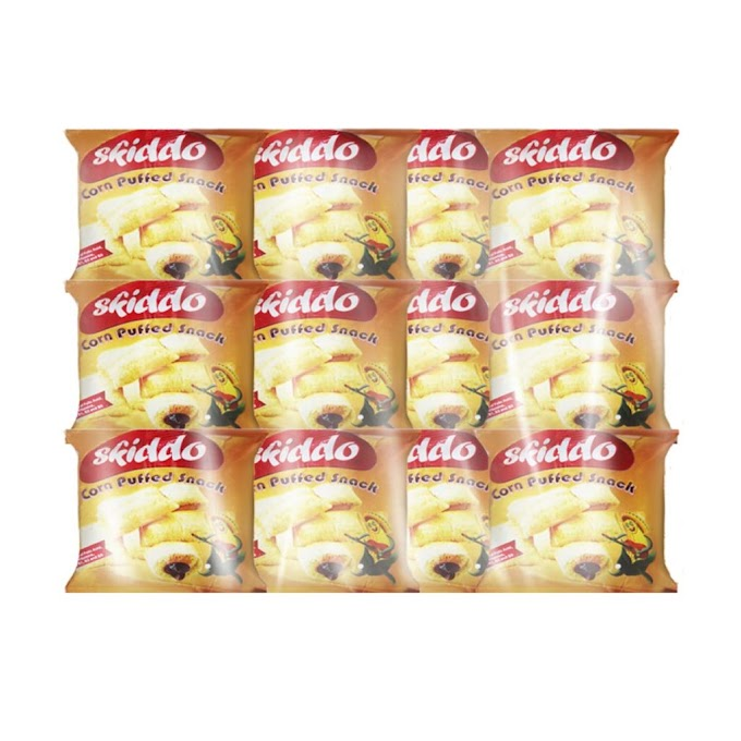 Skiddo Chocolate Corn Puffed Snack 10g x 60