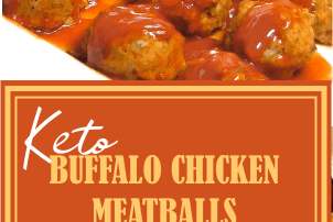 BUFFALO CHICKEN MEATBALLS- KETO APPROVED