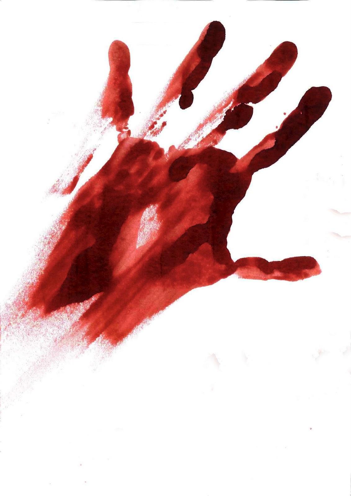 blutige hand