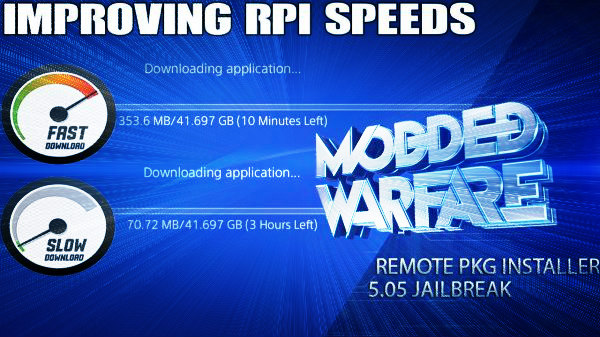 Improving PS4 Remote Package Installer Speed by