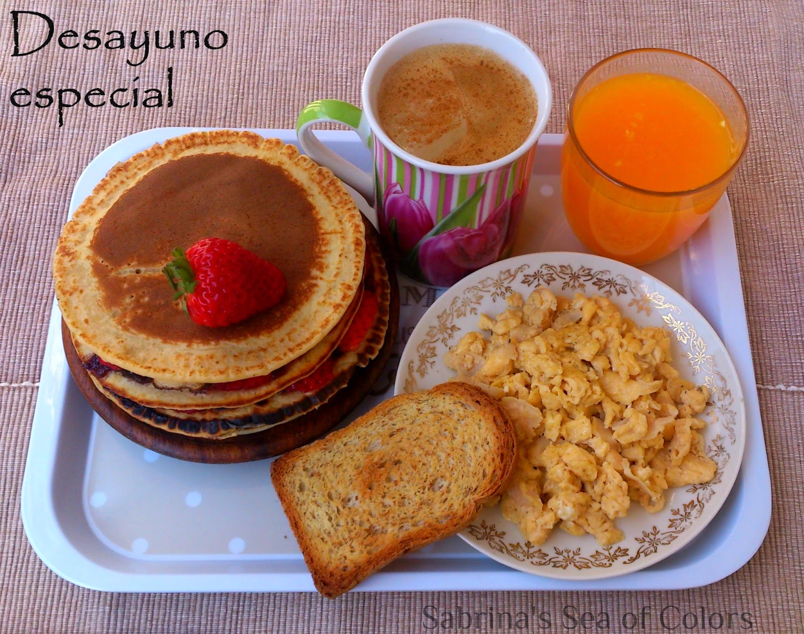 Desayuno para ocasiones especiales - Sabrina´s Sea of Colors