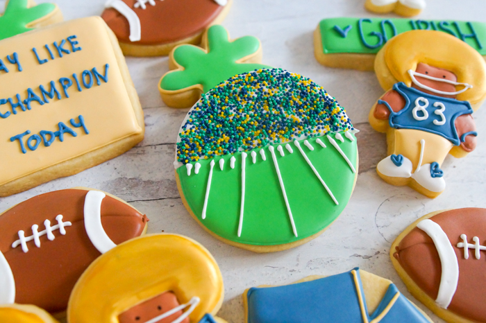 Notre Dame Football Cookies | bakeat350.net