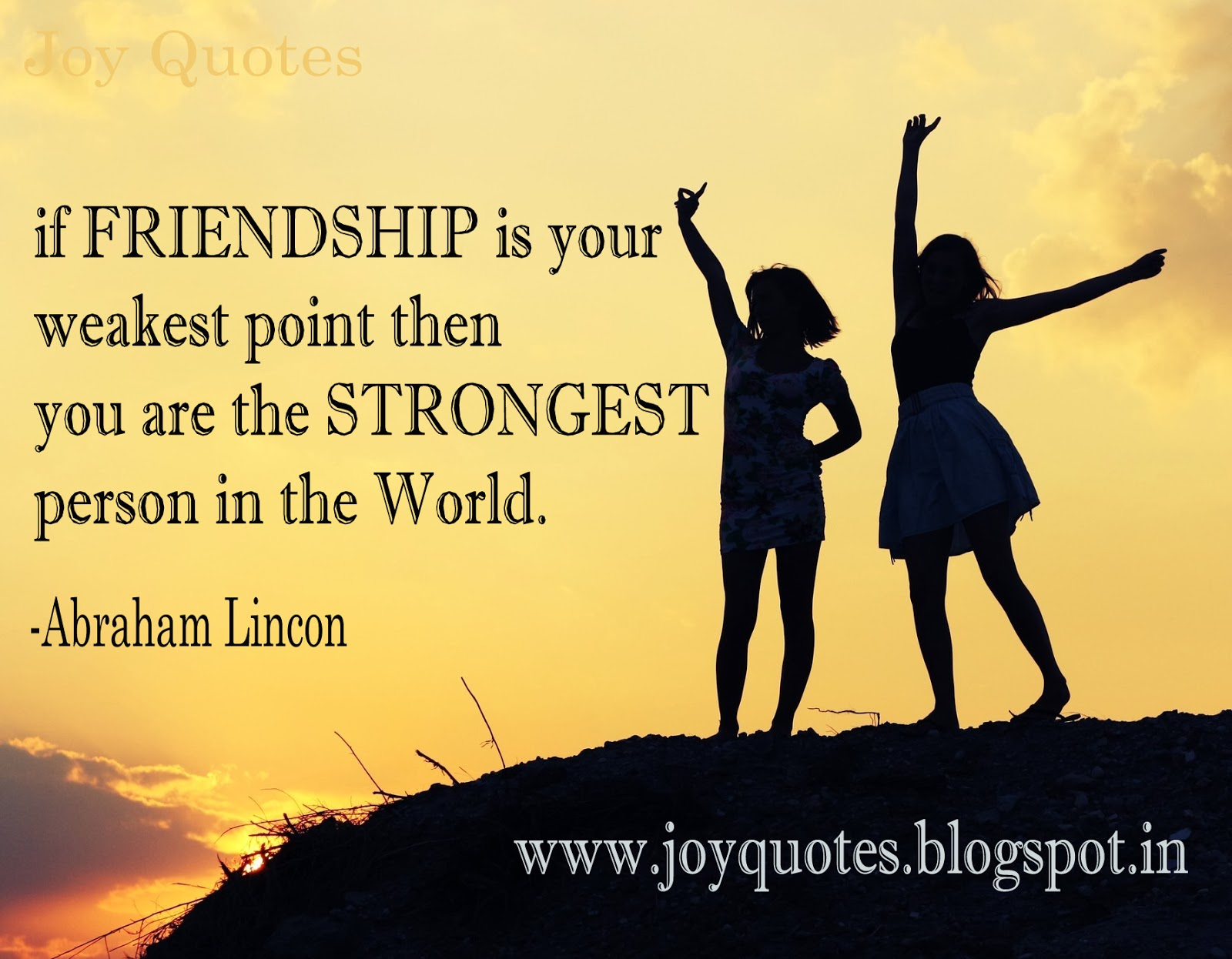 Quotes About Friendship: Joy Quotes