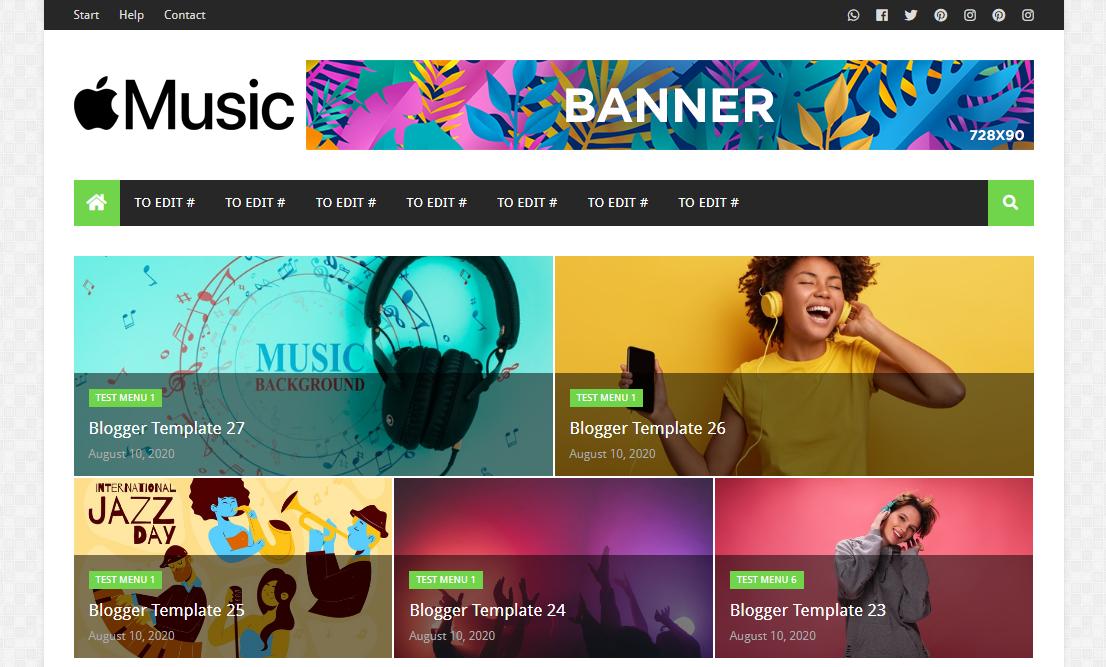 Music Pro Blogger Template