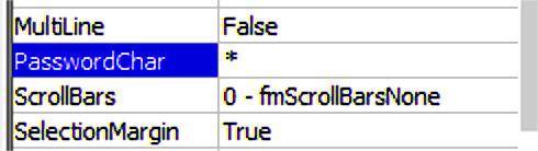 Use asterisk as PasswordChar