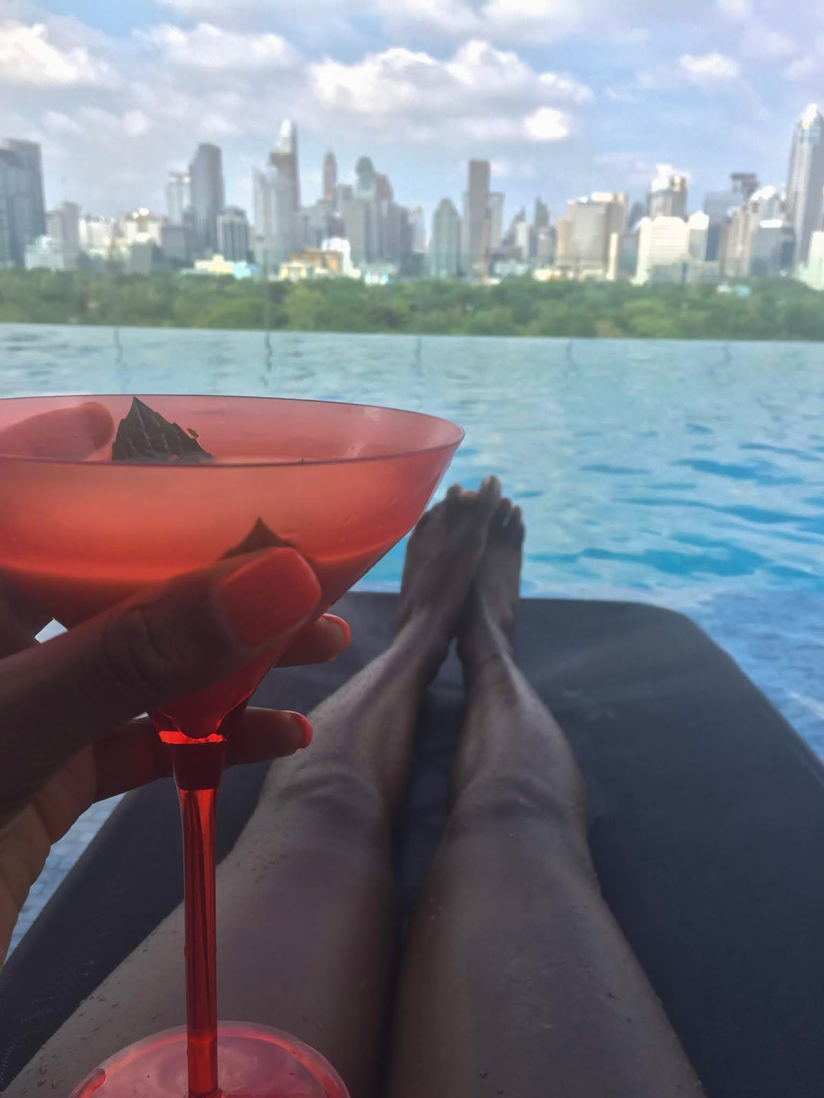 solo female travel cocktail