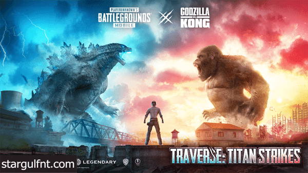 تحميل لعبة PUBG Mobile 1.4 Godzilla vs Kong هجوم العمالقة  للأيفون والأندرويد