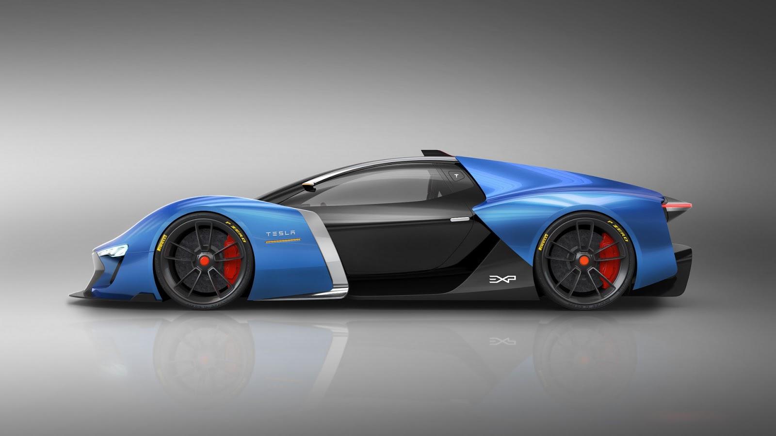 Spanish Designer Dreams Up Futuristic Tesla Supercar