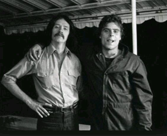 John Carpenter e Tony Moran (Michael Myers) sul set di Halloween, 1978