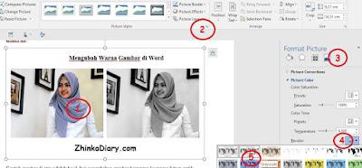 Mengubah Tampilan Warna Gambar di Word