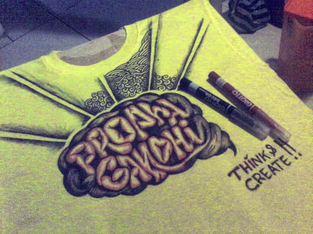 membuat menggambar kaos / t-shirt sendiri dengan spidol