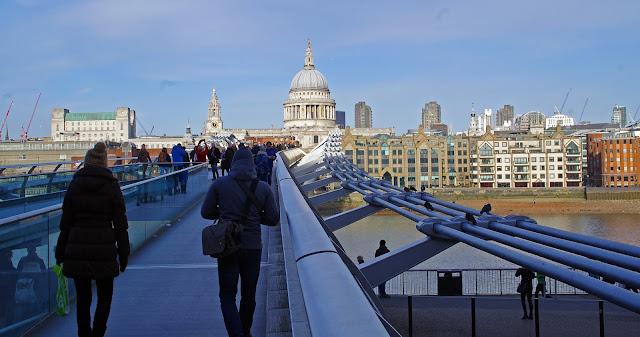 Millenium Bridge and St Pauls Cathedral London