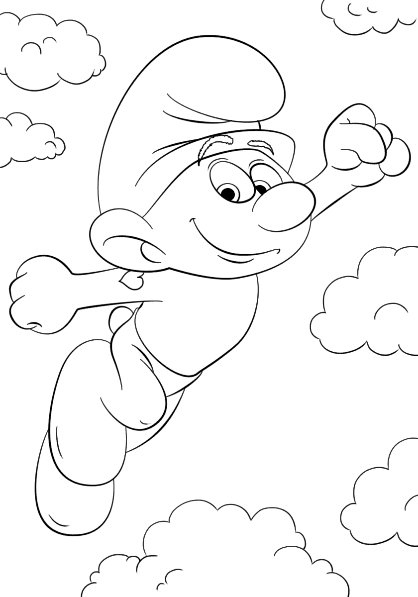 smurfs lost village coloring pages - smurfs the lost village