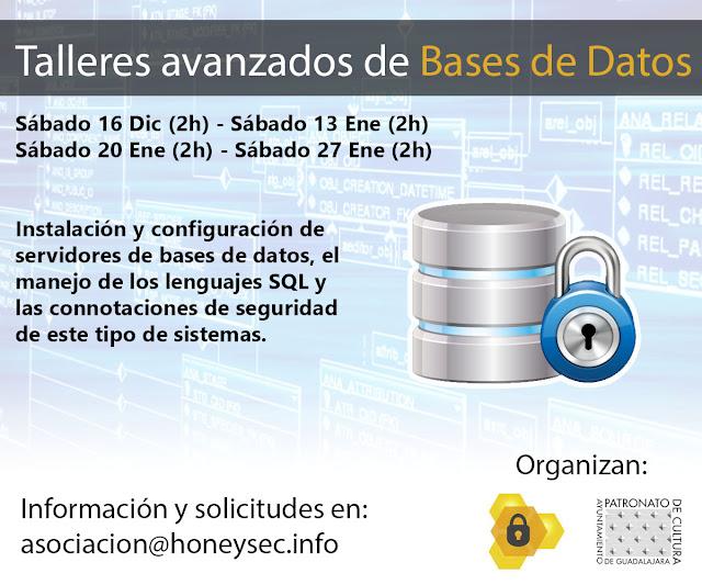 Talleres de formación sobre bases de datos