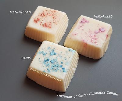 Glitter Cosmetics Candle – Perfumes of Glitter Cosmetics Candle - Manhattan – Paris – Versailles (tarte)