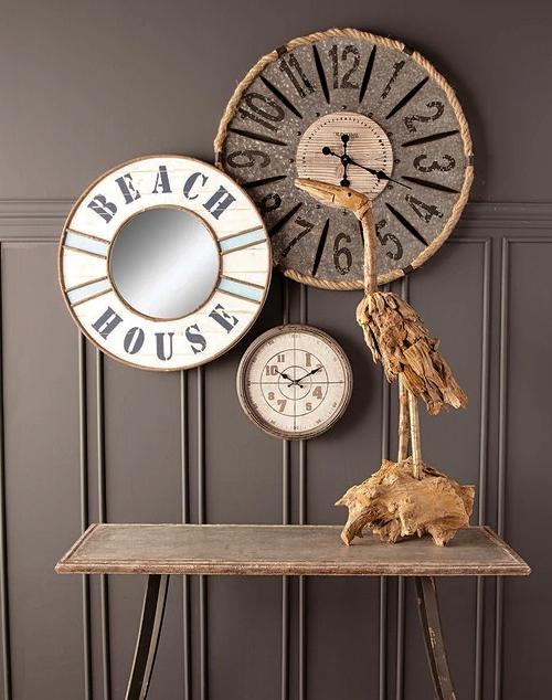 Round Beach House Mirror