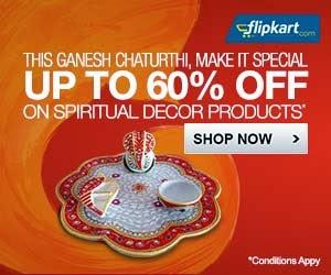Ganesh Chaturthi Special: Get Upto 60% Off on Ganesh Idols, Pooja & Decorative Needs