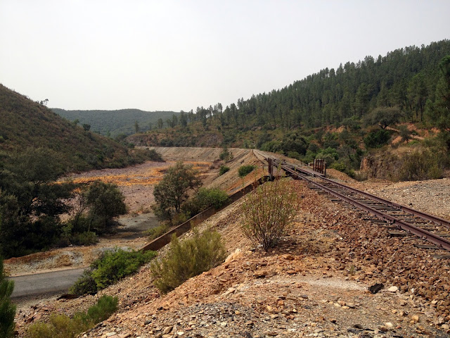 vías de ferrocarril río Tinto en Huelva