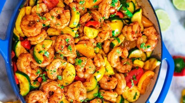 Cajun Shrimp with Vegetables - 1
