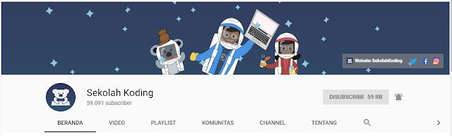 Channel youtube untuk belajar bahasa pemograman dengan gampang atau mudah