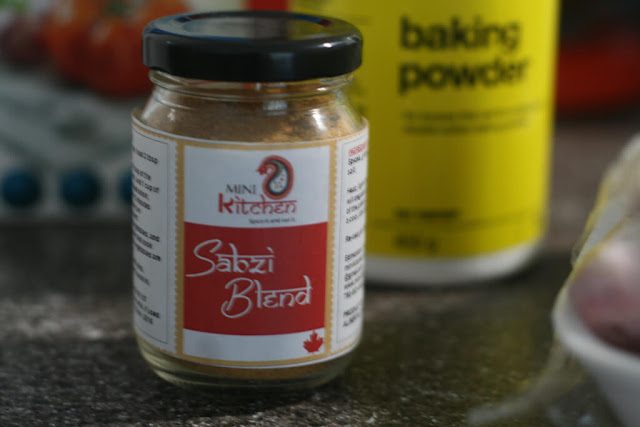 Sabzi blend spice and baking powder