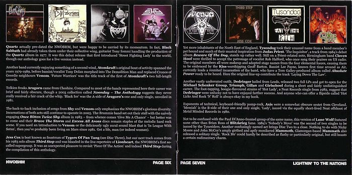 VA - Lightning To The Nations; NWOBHM 25th Anniversary Collection (CD 3) booklet
