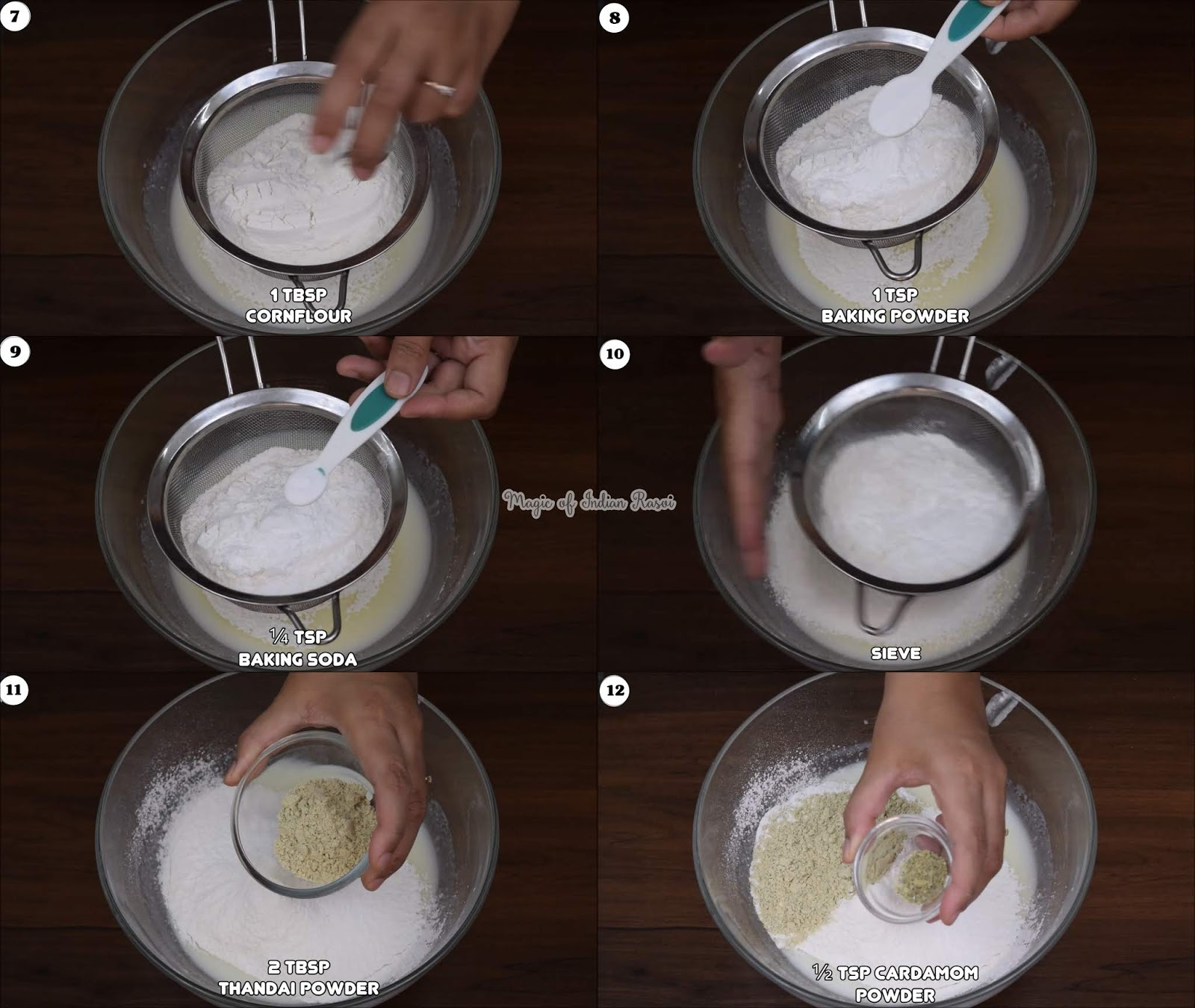Eggless Colorful Thandai Cake Recipe - No Butter - No Condensed Milk  -ठंडाई केक एग्ग्लेस - होली स्पेशल  - Priya R - Magic of Indian Rasoi