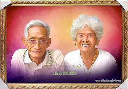 Vẽ Tranh Chân Dung Ông Bà