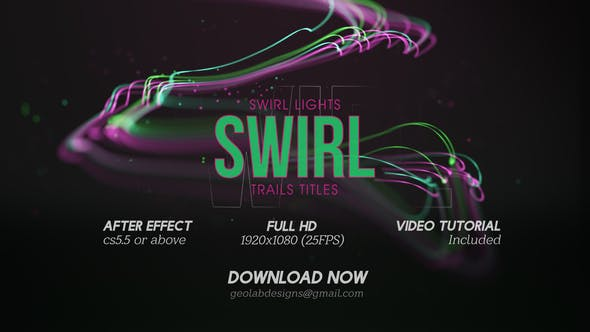 Videohive - Swirl Lights Trail Titles l Particles Line Titles l Colorful Trails Titles l Flow Lines Titles - 27416027