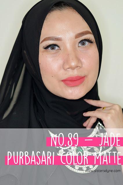 purbasari lipstick color matte 89 jade