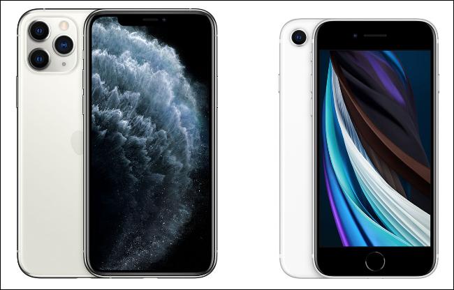 iPhone 11 Pro و iPhone SE 2.
