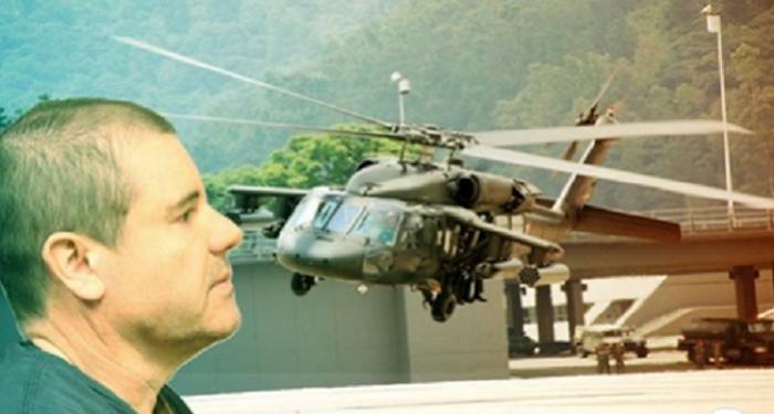 Como si estuvieran en su casa agentes de la DEA utilizaron helicópteros propios para capturar a El Chapo Guzmán en Sinaloa