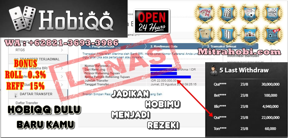 Re: HOBIQQ | Situs Judi Online | Situs Judi Online Terpercaya | Agen Poker Terbesar Dan Terpercaya | Online 24 Jam - Page 3 Ad