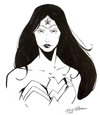 Wonder Woman portrait by Renee Rienties