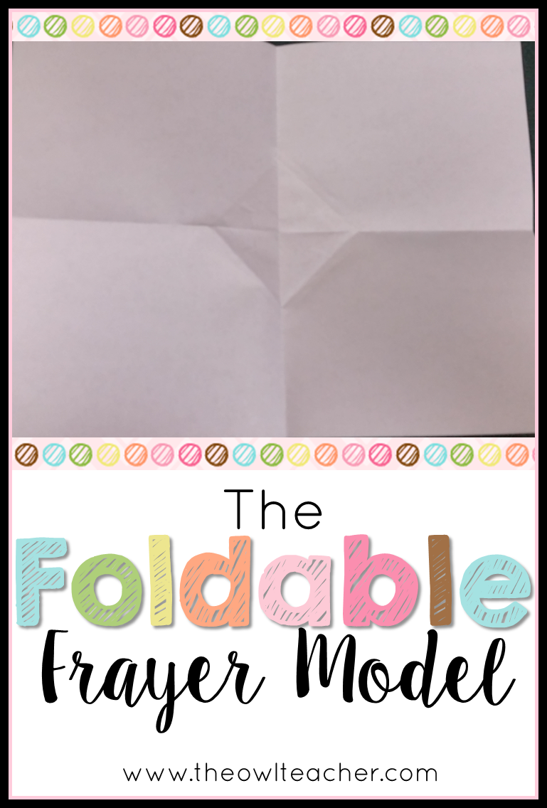 save time and copies with this quick and simple foldable idea for using the frayer model